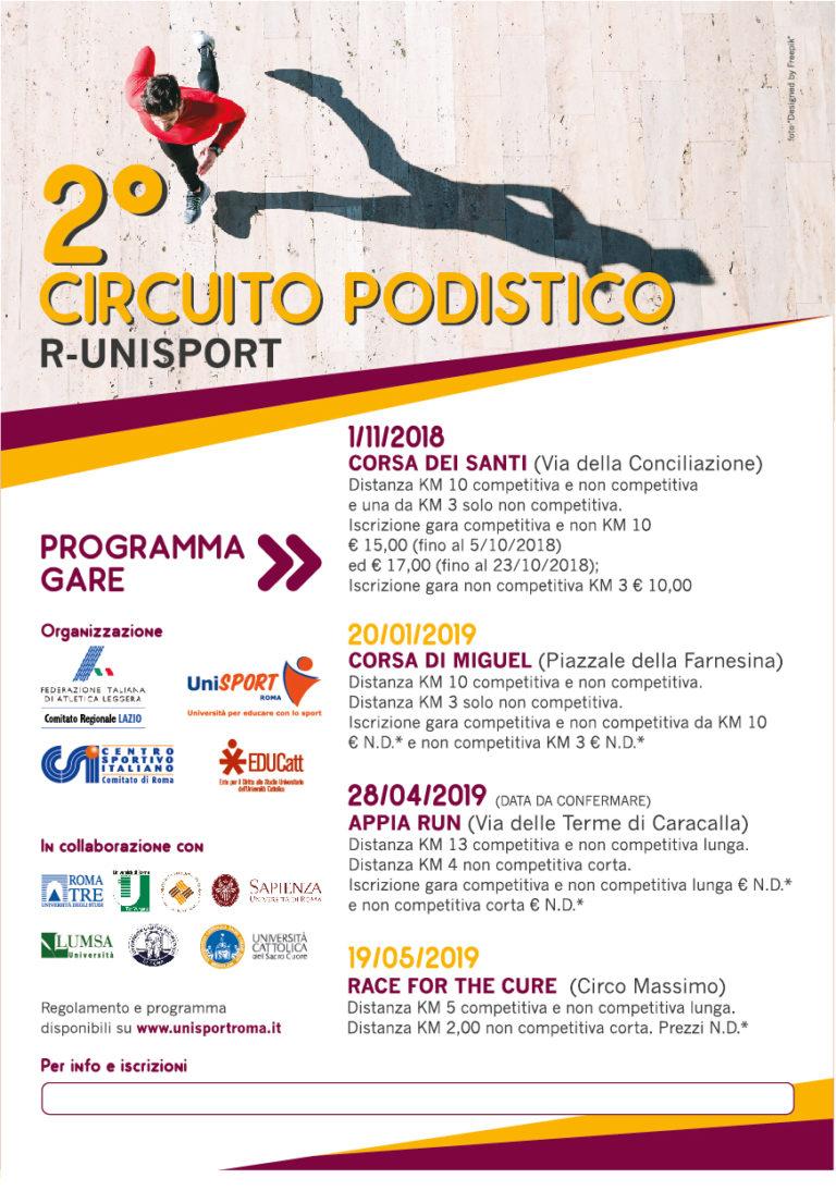2° Circuito podistico R-UNISPORT